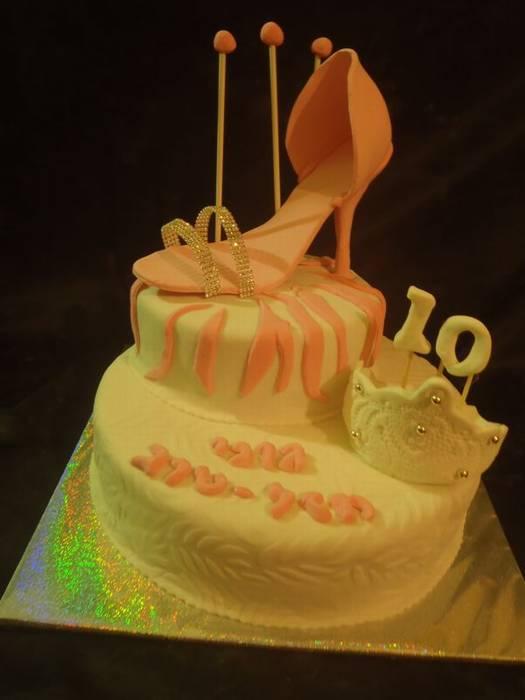 עוגת יום הולדת נעל וכתר