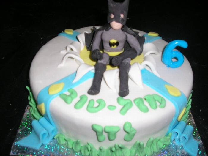 באטמן עוגת יום הולדת לבנים