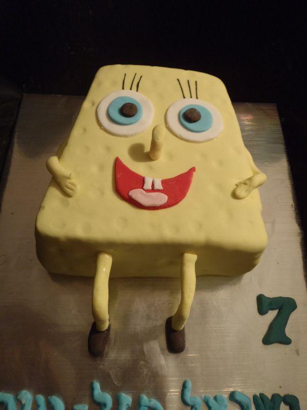 בוב ספוג מעוצב כעוגה ליום הולדת