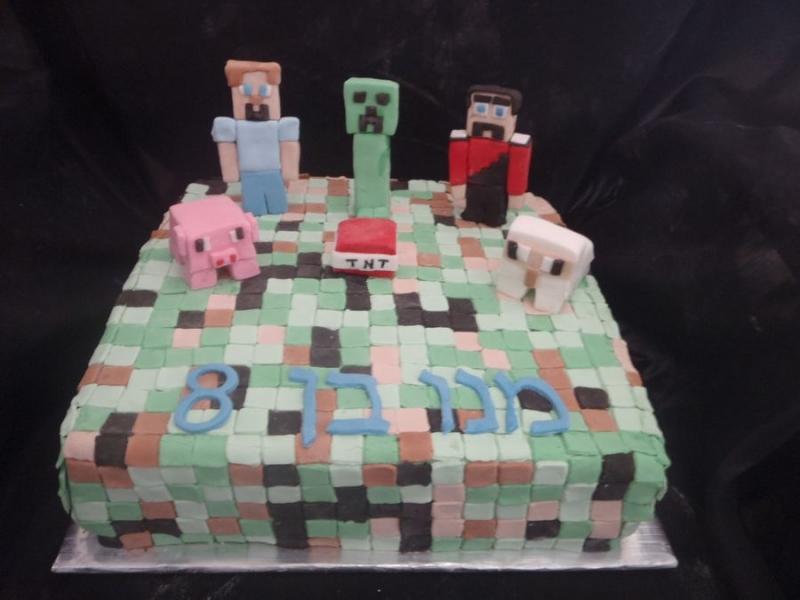 מי קרפט עוגת יום הולדת לבנים