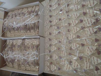 סוכריה עם הקדשה אישית לחתונה כ 200  סוכריות
