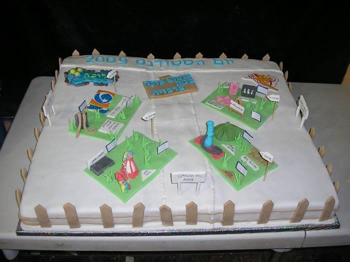 עוגה בגודל 90 על 75 ליום הסטודנט בבאר שבע 2009
