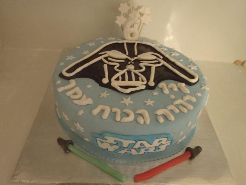 עוגה לבנים ליום הולדת דארט ווידר מ מלחמת הכוכבים