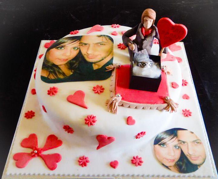 עוגה להצעת נישואים הדפסה