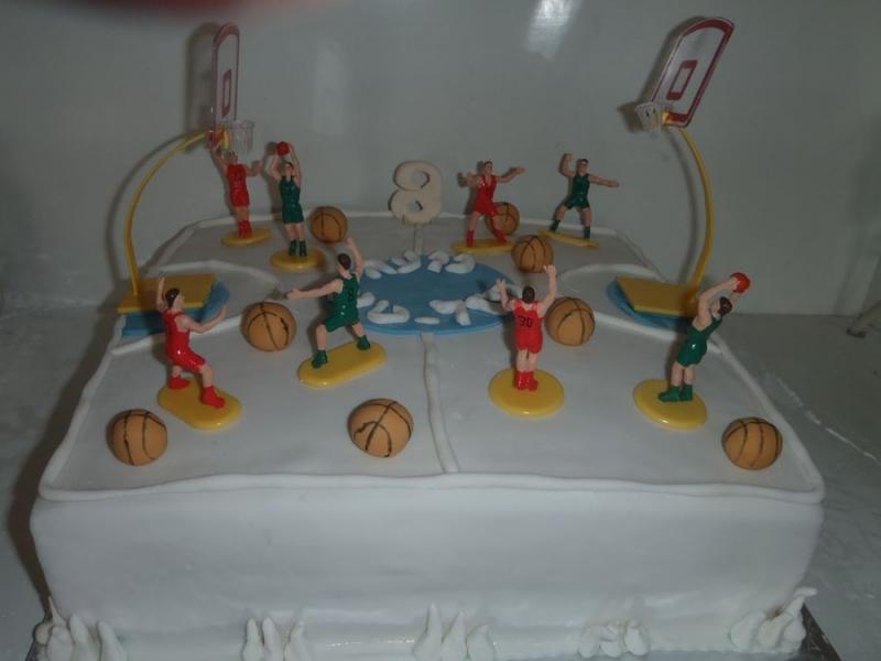 עוגה ליום הולדת בנים מגרש כדורסל