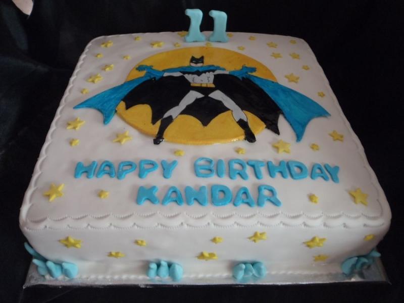 עוגה ליום הולדת  לבן באטמן