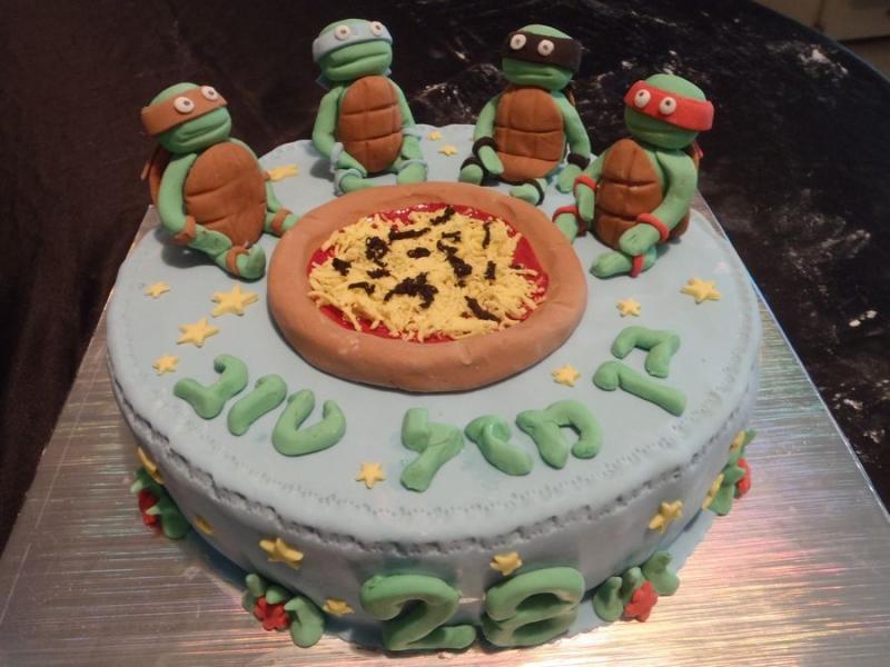 עוגה ליום הולדת לבן צבי הנינגה