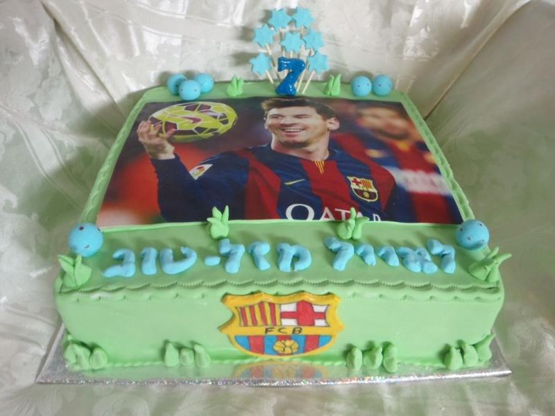 עוגה ליום הולדת מסי מ ברצלונה הדפסה