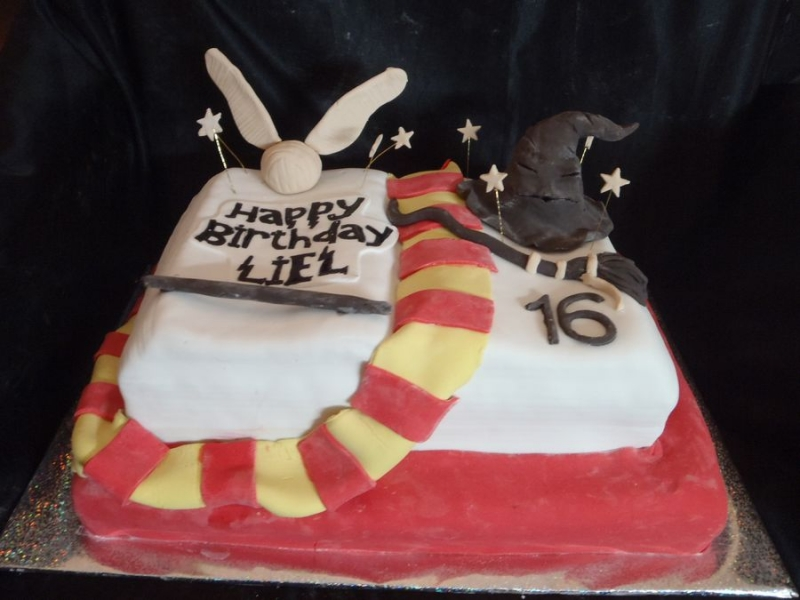 עוגה ליום הולדת מפוסלת הארי פוטר בנים