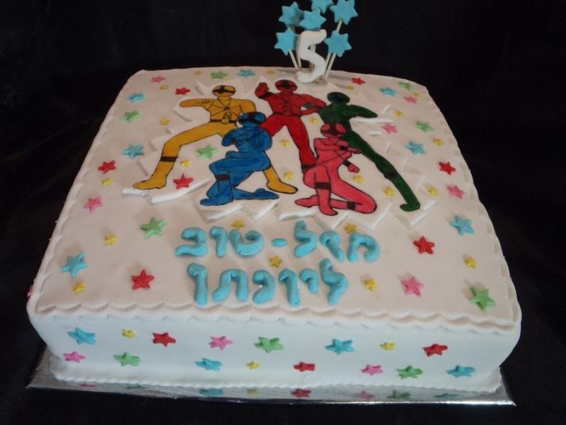 עוגה ליום הולדת פאואר רינגרס בנים