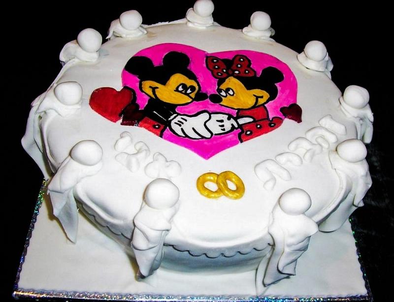 עוגה ליום נישואים מיקי ומיני מאוס
