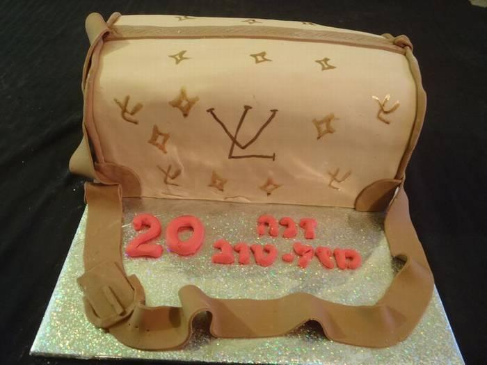 עוגה מעוצבת תיק לואי וויטון