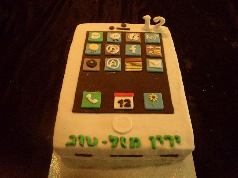 עוגת אייםון לבנים ליום הולדת