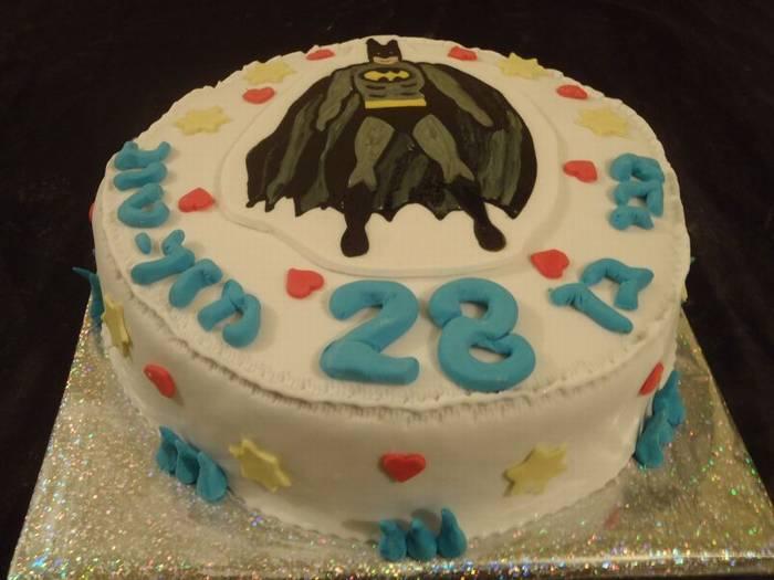 עוגת באטמן ליומולדת בנים