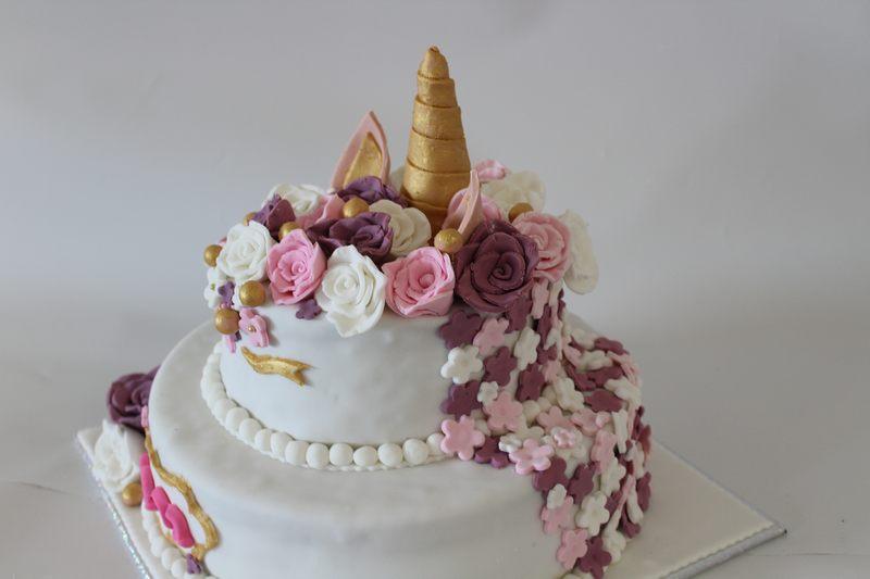 עוגת בת מצווה חד קרן מבט לאחור