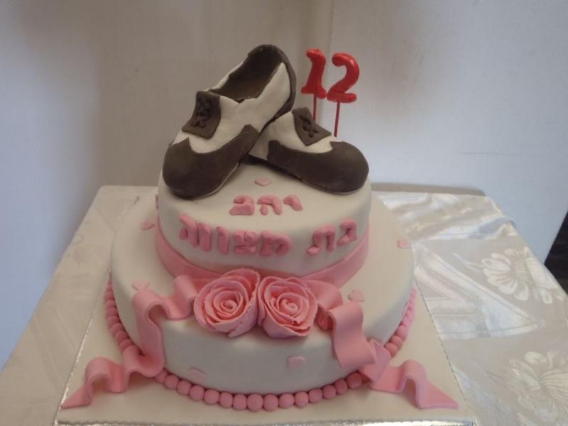 עוגת בת מצווה נעלי סטפס מפוסלות