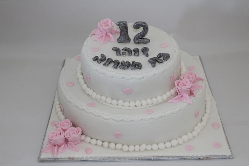 עוגת בת מצווה שושנים