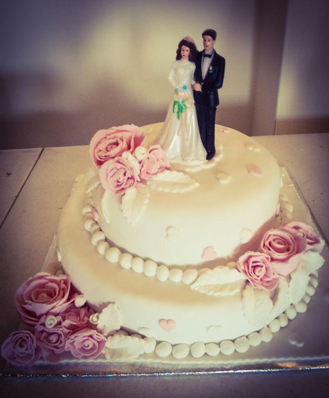 עוגת חתונה שושנים