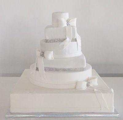 עוגת חתונה 6 קומות בגודל 60 על 60