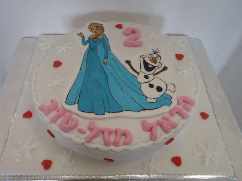 עוגת יום הולדה אלזה ואולף