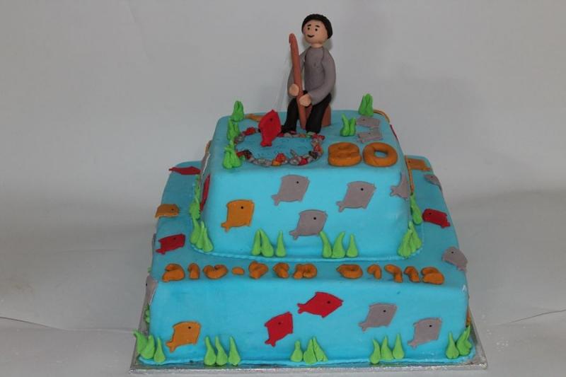 עוגת יום הולדת דייג