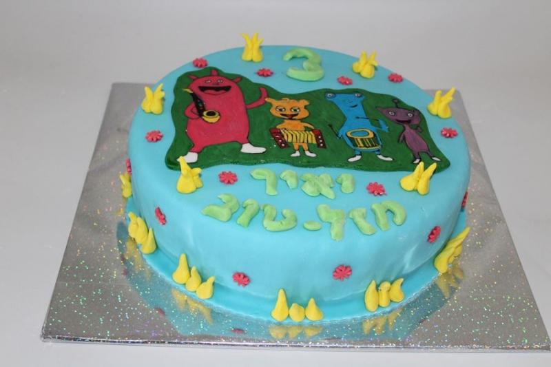 עוגת יום הולדת דמויות של קטני