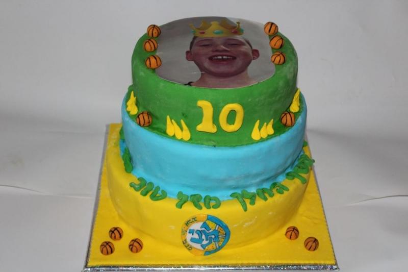 עוגת יום הולדת הדפסה לאסף המלך