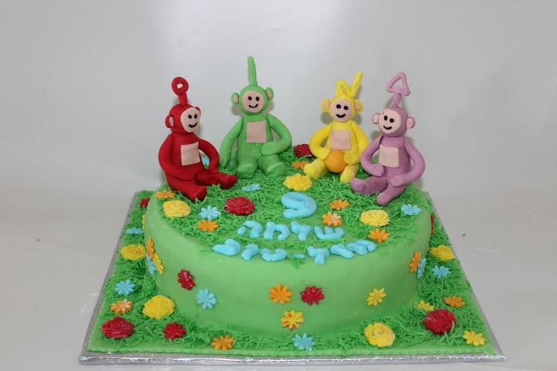 עוגת יום הולדת טלטביז מפוסלים