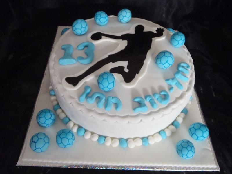 עוגת יום הולדת כדורעף בשחור לבן
