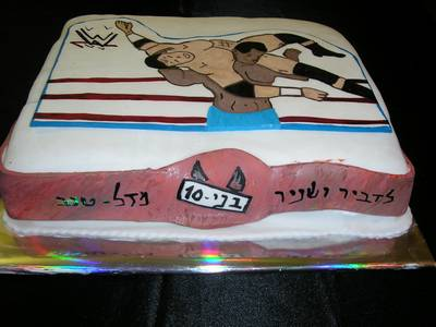 עוגת יום הולדת    לבנים WWE היאבקות