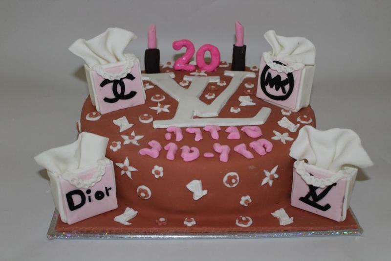 עוגת יום הולדת לואי וויטון ו מותגים
