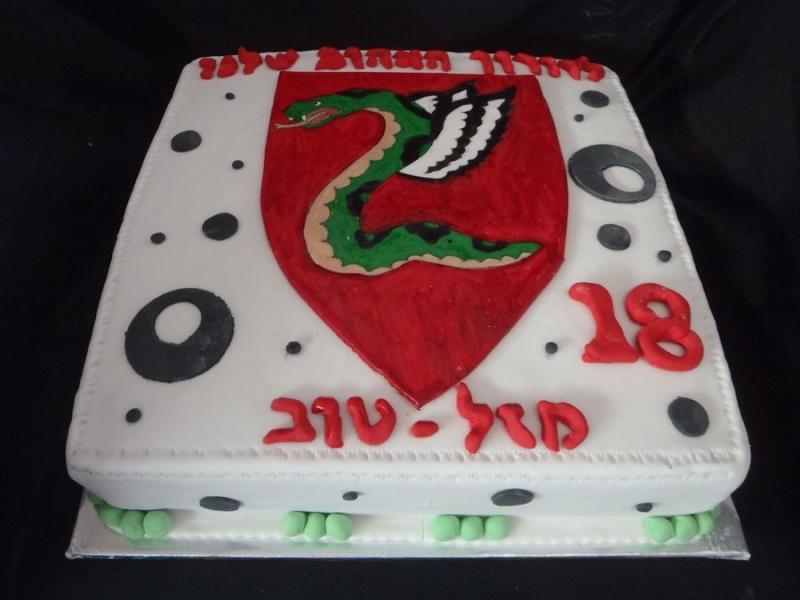 עוגת יום הולדת לוגו של נחש