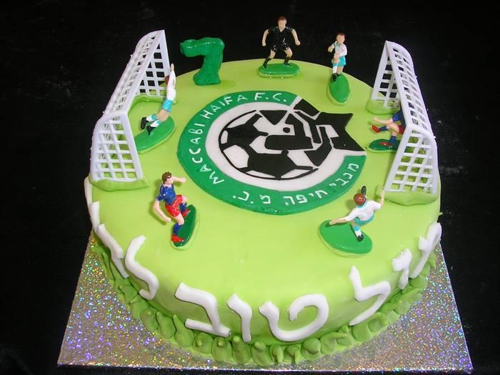 עוגת יום הולדת מכבי חיפה מגרש כדורגל