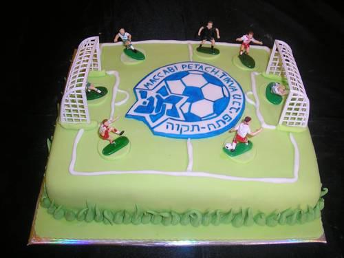 עוגת יום הולדת מכבי פתח תקווה מגרש כדורגל