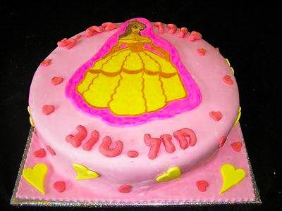עוגת יום הולדת נסיכה לבנות