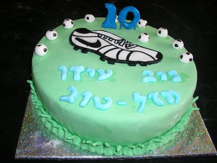 עוגת יום הולדת נעל נייק כדורגל