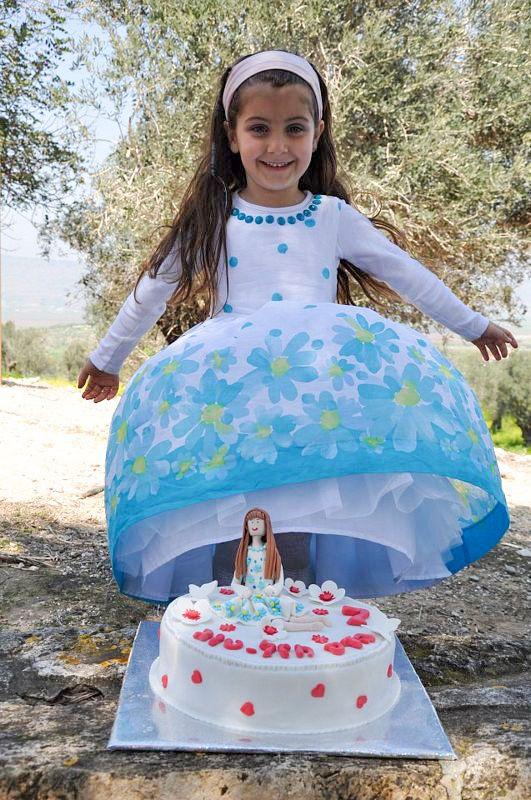 עוגת יום הולדת נערת הפרחים להדס