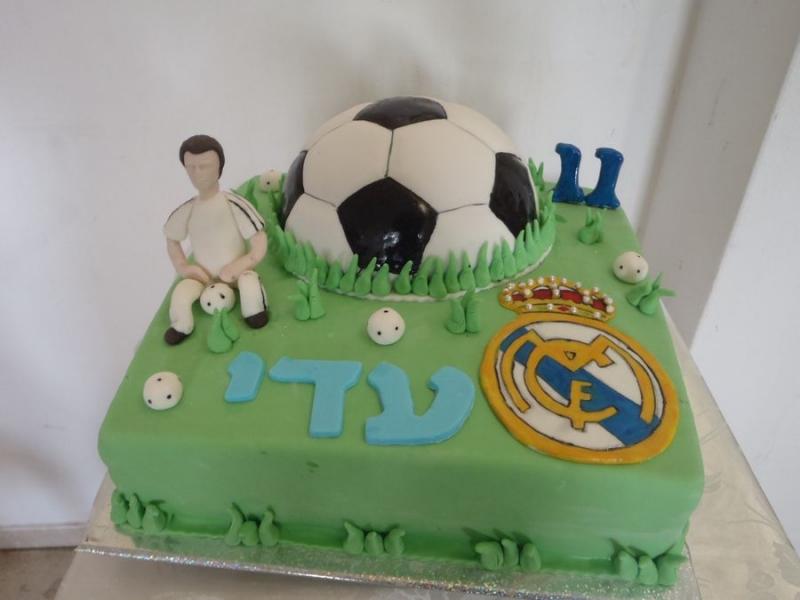 עוגת יומולדת כדורגל בנים ריאל מדריד