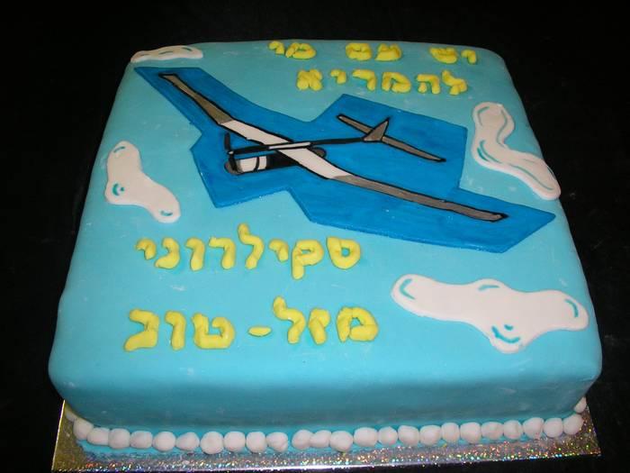 עוגת מזלט מטוס