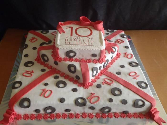 עוגת 3 קומות לחברה בגודל 60 על 60