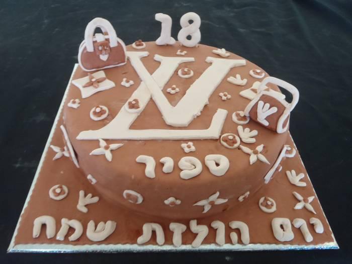עוגת לוגו לואי וויטון
